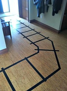 Train tracks for our Thomas the Train themed birthday party