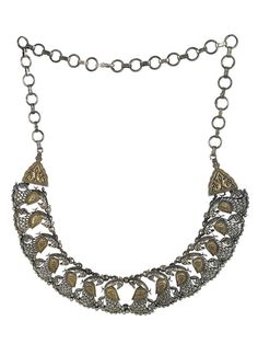 Peacock Dual Plated Brass Necklace