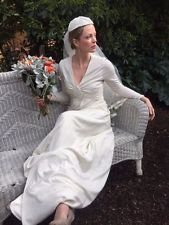 Vintage Bridal Gown, Wedding Dress, Art Deco style made in the Seventies