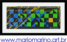 Uma sugestão diferente e ¨clean¨ para sua casa! Quadro abstrato geométrico com uma exótica combinação de cores! Visite a loja virtual e conheça as outras opções! Tudo em até 12X com frete grátis!