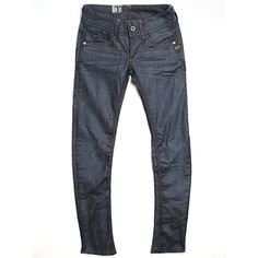 G-Star RAW Jeans (49 NZD) ❤ liked on Polyvore featuring jeans, dark blue, g-star raw, g star raw jeans and dark blue jeans