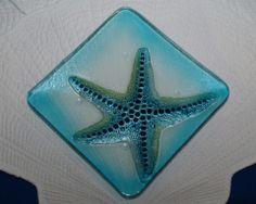 Fused Glass Starfish Plate