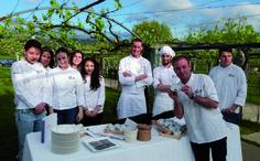 Showcooking con el que finalizó la visita de los alumnos y profesores del Basque Culinary Center a la D.O. Rías Baixas