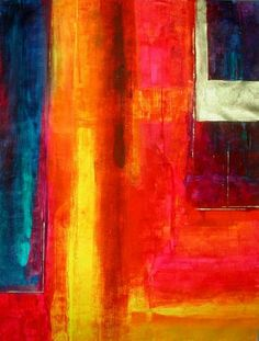 Color Fields With Gold - Abstract Art by Philip Bowman
