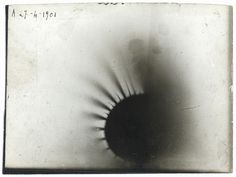 A photograph from Henri Becquerel's experiments with beta rays in 1901. | 15 Historic Science Photos That Put Your Instagram To Shame