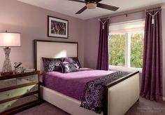Сочетания фиолетового в спальне