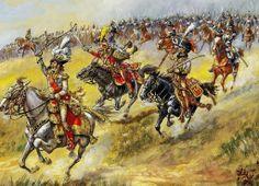 Murat, Lasalle & leurs curassiers a l'attaque @ Heilsberg, 10 juin 1807 par J. Girbal