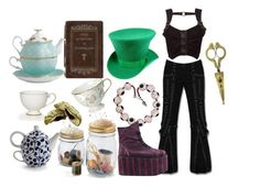 """""""Mad hatter"""" by rebel-babe ❤ liked on Polyvore featuring Venom, Buffalo, Royal Albert, 1928, women's clothing, women, female, woman, misses and juniors"""