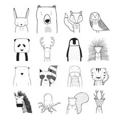 ilustration ↟ ↟ T H E W I L D ↟ ↟ Modern apparel for hip kids. von TheWildKidsApparel Browse unique items from TheWildKidsApparel on Etsy, a global marketplace for handmade, vintage and creative goods. Tier Doodles, Animal Doodles, Nursery Art, Doodle Art, Baby Animals, Art Drawings, Small Drawings, Illustration Art, Doodle Illustrations