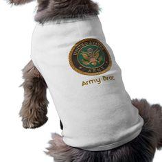 Army Brat Seal Dog Puppy Tee Shirt Dog Clothes #pet #clothing
