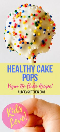 Looking for a healthy snack for your picky eater? Kids and toddlers love this easy and fun cake pop! Take to school on the go or enjoy at home with the family! Healthy Desserts For Kids, Kid Desserts, Snacks To Make, Healthy Sweets, Healthy Baking, Healthy Kids, Healthy Food, Healthy Cake Pops, Starbucks Cake Pops