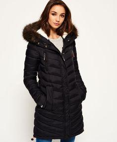 Superdry Chevron Fur Super Fuji Jacket Black