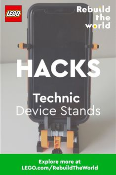Need a new phone stand for virtual school or all those video calls? These cool hacks using LEGO Technic will inspire you to design and build your own stand or accessory for any device. So dig into your bin of LEGO bricks and elements and get creating! When you build something, share it using #RebuildTheWorld and find other compelling stories and ideas at www.LEGO.com/RebuildTheWorld