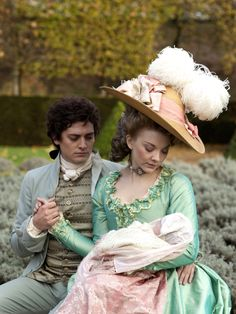 Aneurin Barnard as George Bisset  and Natalie Dormer as Seymour, Lady Worsley in…
