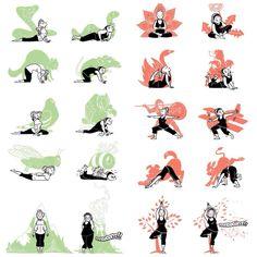 True story. Beginner Yoga, Yoga For Beginners, Buddha Artwork, Yoga Humor, Yoga Illustration, Yoga Moves, Yoga For Kids, Lacrosse, Dior