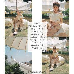 Công thức #VSCO nha  Màu A1 Vsco Photography, Photography Filters, Photography Editing, Photo Editing Vsco, Vsco Presets, Vsco Edit, Instagram Design, Vsco Filter, Editing Pictures