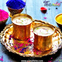 Thandai Recipe / Easy Holi Recipes is a refreshing drink. It is also called as Sardai, and is mainly prepared during Holi, because it marks the beginning of summer in India. Refreshing Drinks, Summer Drinks, Holi Festival Of Colours, Holi Colors, Holi Theme, Thandai Recipes, Holi Recipes, Holi Special, Indian Dessert Recipes