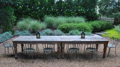 outdoor dining | Lighting Ideas for Patio Rustic design ideas with chair fence gravel ...