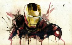 I painted a watercolor of Iron Man for my friend - Imgur  impressive