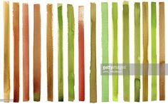 Stock Illustration : Stripy watercolour