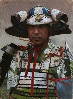 """Samurai"" - oil painting on linen by Phil Couture Available at: http://philcouture.com/workszoom/1897720"