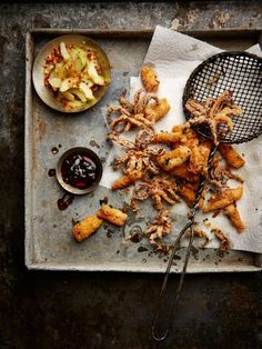 Chinese-inspired salty, tender squid with a crunchy outer coating. It gets an extra kick from a sticky Thai chilli jam, and is beautifully balanced by a cool cucumber relish. Prep 25 minutes Cook 8 minutes