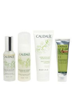 CAUDALÍE 'Favorites' Set | Nordstrom - caudalie our favourites set - contains lip conditioner, beauty elixer, instant foaming cleanser, and hand and nail cream.