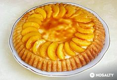 Karamellás-őszibarackos torta Pie, Desserts, Food, Caramel, Torte, Tailgate Desserts, Cake, Deserts, Fruit Cakes