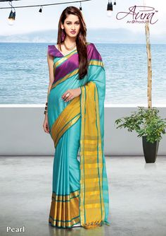 Pearl Handloom Saree, Indian Outfits, Cover Up, Sari, Cotton, Superstar, Beauty, Beautiful, Dresses