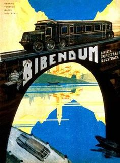 VintageArte ♥- Michelin Bibendum Auto Train Tire Poster : Posters and Framed Art Prints Available