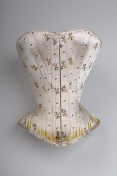 fripperiesandfobs:  Corset, 1880 From the Wien Museum via Europeana Fashion