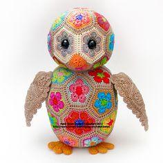 Aloysius the Farican Flower Owlet Crochet Pattern.  $6.50 for pattern 7/14.