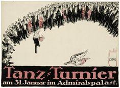 Tanzturnier im Admiralspalast Plakat Ernst Deutsch (1887.08.03 - 1938.03.16, Los Angeles), Entwerfer Hollerbaum und Schmidt (Nachweiszeit: 1894-1930), Drucker 1912/1914 Druckort: Berlin