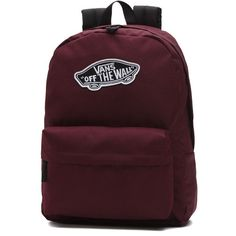 Vans Realm Backpack ($35) ❤ liked on Polyvore featuring bags, backpacks, brown bag, rucksack bags, vans backpacks, day pack backpack and pocket bag