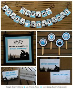 ATV Off Road Birthday Party Package Boy by BoogieBearInvitation, $86.90