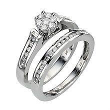 Platinum 1/2 Carat Diamond Perfect Fit Bridal Set - Product number 8453047