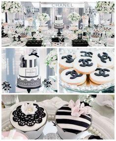 Chanel Inspired Birthday Party via Kara's Party Ideas   KarasPartyIdeas.com (2)