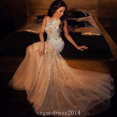 Mermaid Long Prom Dresses Champagne Prom Gowns Beading Prom Dresses 2016 Party Dresses 2016 Prom Gown Prom Dress Sexy Prom Dress