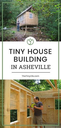 Follow a tiny house build in Asheville, North Carolina! Learn why they decided to go with a normal foundation of cement piers and follow their process with step by step pictures. #tinyhouse #tinyhouseliving #tinyhousemovement #tinyhousebuild #asheville #northcarolina