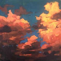 "Daily Paintworks – ""Yellow Cloud"" – Original Fine Art for Sale – © Chris Long Daily Paintworks – ""Gelbe Wolke"" – Original Kunst zu verkaufen – © Chris Long Painting Inspiration, Art Inspo, Art Sketches, Art Drawings, Yellow Cloud, Orange Sky, Yellow Art, Yellow Painting, Bel Art"