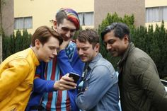 just a little obsessed with dirk gently. Series Movies, Book Series, Samuel Barnett, Dirk Gently's Holistic Detective, Elijah Wood, Everything Is Connected, All Tv, Blue Box, Tv Shows