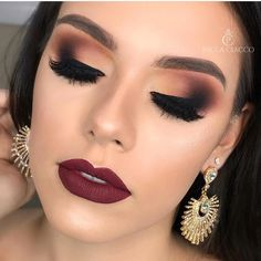 14 Absolutely Gorgeous Makeup Ideas - Smokey Glam Makeup on Beautiful Makeup Photos 2195 Prom Makeup Looks, Glam Makeup Look, Fall Makeup Looks, Wedding Hair And Makeup, Gorgeous Makeup, Smoke Eye Makeup, Skin Makeup, Eyeshadow Makeup, Beauty Makeup