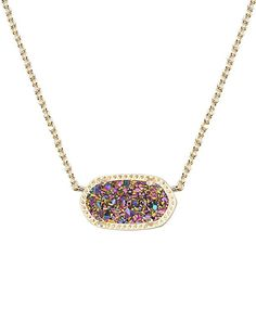 $65 Elisa Pendant Necklace in Multi-Color Drusy - Kendra Scott Jewelry
