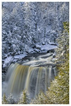 Winter Wonderland, at Blackwater Falls, West Virginia.