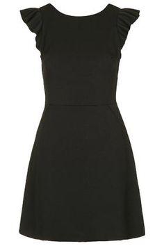 Frill Sleeve A-Line Dress