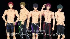 Haruka, Makoto, Rin, Asahi, and Ikuya! || Free! Dive to the Future