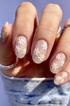 Cute Acrylic Nails, Cute Nails, Pretty Nails, Cute Nail Art, Spring Nails, Summer Nails, Nail Art For Spring, Nails Ideias, May Nails
