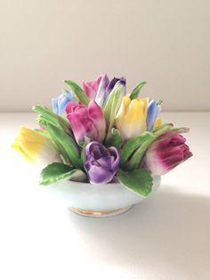 Vintage English Aristocrat Tulip Porcelain Fine by MariasFarmhouse, $39.00
