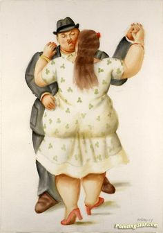 Dancers Artwork by Fernando Botero Hand-painted and Art Prints on canvas for sale,you can custom the size and frame