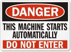 Compressor room sign